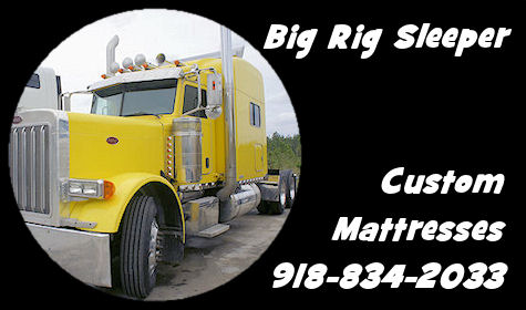 Semi Truck Big Rig Sleeper Mattress