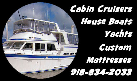 Custom Mattresses for Cabin Cruisers, House Boats, Yachts.